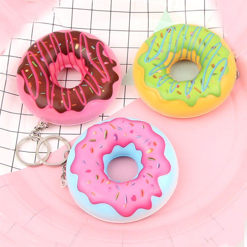 Funny Squishe Antistress Squishy Toy Slow Rising Stress Relief Novelty & Gag Toys Gadget Anti-stress Jumbo Donut Food Keychains