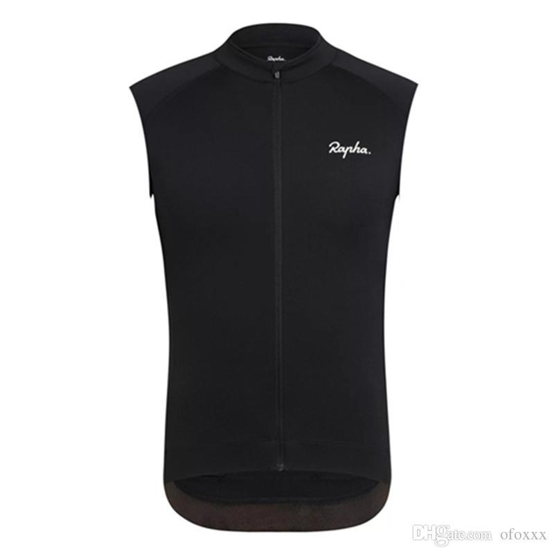 RAPHA equipo de ciclismo Jersey sin mangas del chaleco de moto verano de los hombres Ropa pro Ropa Carreras Top transpirables deportes al aire libre 51781