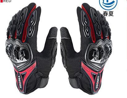Gants d'équitation moto écran tactile chevalier anti-chute locomotive complète des gants de doigts des gants de coque en fibre de carbone mâle été perméable à l'air