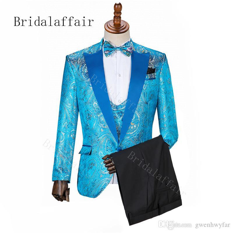 Professional Leisure Groomer Suit/Mens Wedding Prom Party Dinner Suits Jacket with Pants/Men's Fashion Slim Suit Business Casual Wear Grooms