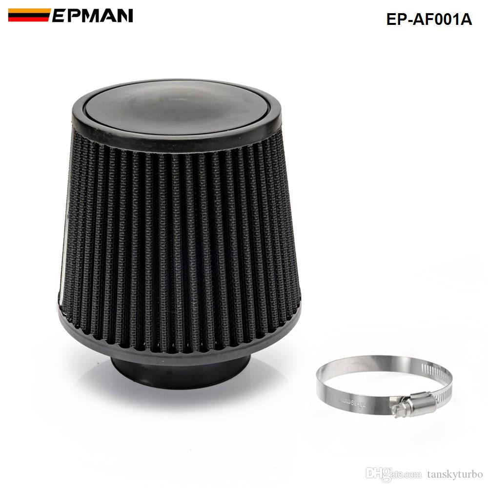 """Black 3 Inch 3/"""" 76mm Cold Air Intake Cone Filter Universal Fit Fitment"""
