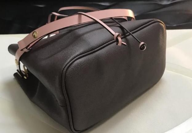 Top Designer Umhängetaschen mit Leder Eimer Tasche Frauen berühmte Designer-Handtaschen hochwertige Blumendruck Umhängetasche Geldbörse