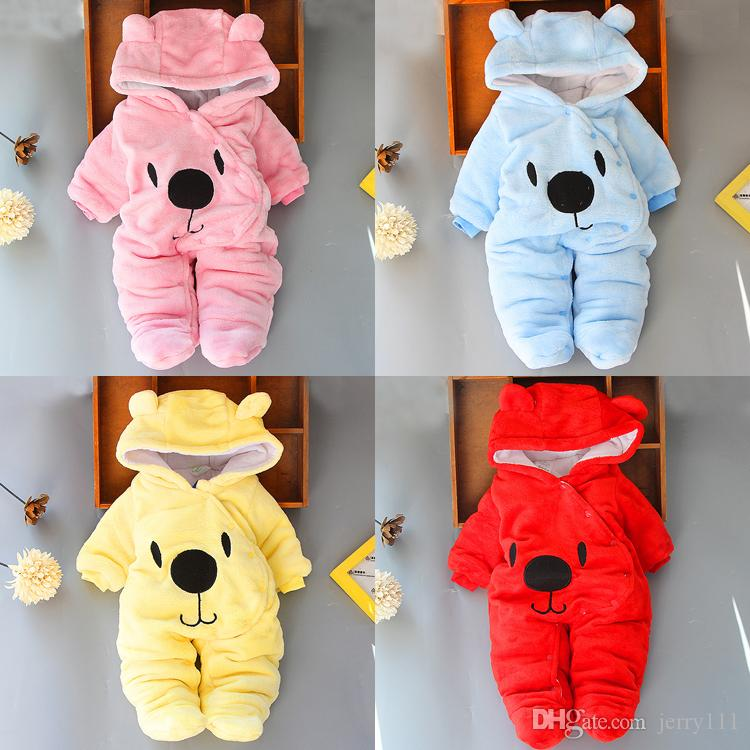 Baby rompers 4 colors Infant Boy Designer Clothes for Newborn baby Girl clothes Autumn Winter Girls Snowsuits jumpsuits JY984