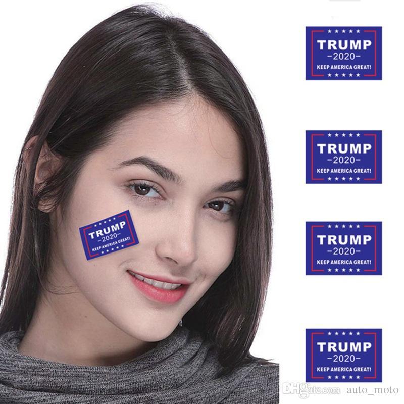 Yeni ABD Seçim Trump 2020 Sticker Moda Yüz-göğüs Yapıştırma Kendinden yapışkanlı Kompozit Yaratıcı YÜZ Ev Pencere Sticker trump dövme