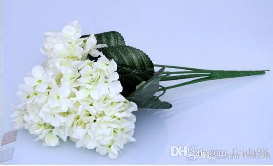 Simulation flower simulation plant 6 Hydrangea silk wedding flowers bouquet celebration venue fake flowers Free Delivery W187