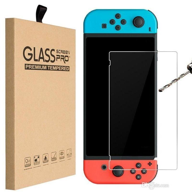 Couvercle de protection de protection de protection de protection de verre trempé de 9h Ultra-Clear Verre pour Nintendo Switch Lite avec boîte de vente au détail