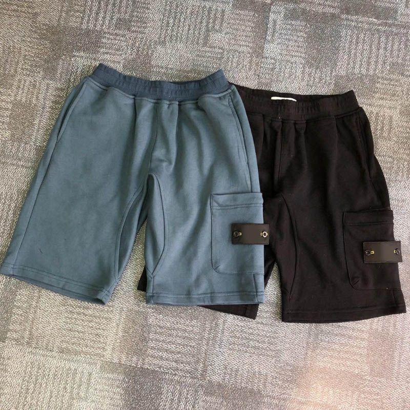 Verano Hombres Pantalones cortos para hombre Joggers Pantalones masculinos chándal negro sólido pantalones azules de algodón shorts M-2XL
