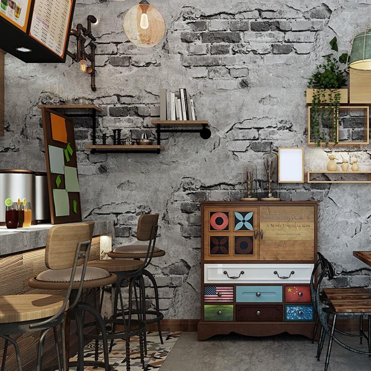 Vintage 3D brick Effect Wallpaper Roll Modern Rustic Realistic Faux Texture Vinyl PVC Wall Paper Home Decor