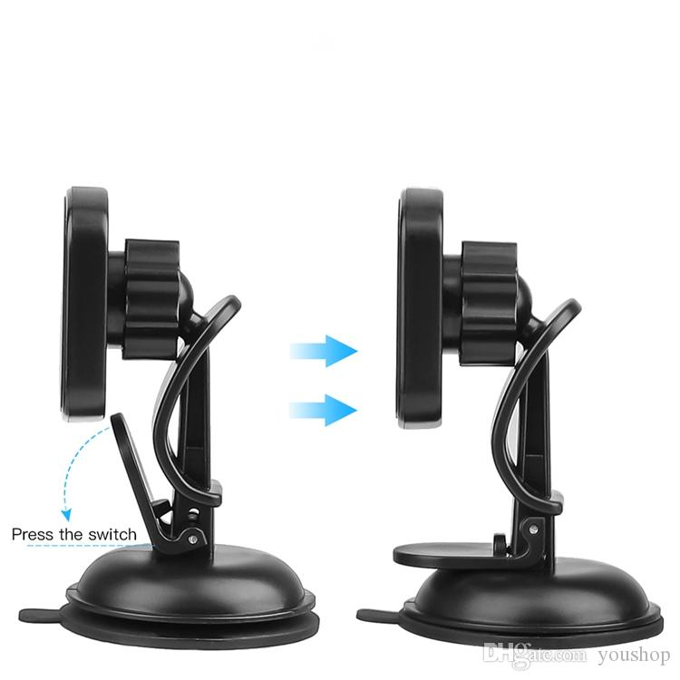 Universal Magnetic Car Mount Holder Windshield and Dashboard Magnet Holder for Cell Phone with 360 Degree Rotation