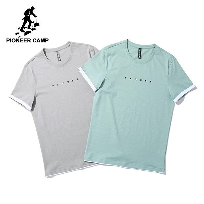Печатное письмо Твердые футболки Мужская футболка с фирменным дизайном Тонкая летняя футболка Мужская качественная стрейч футболка