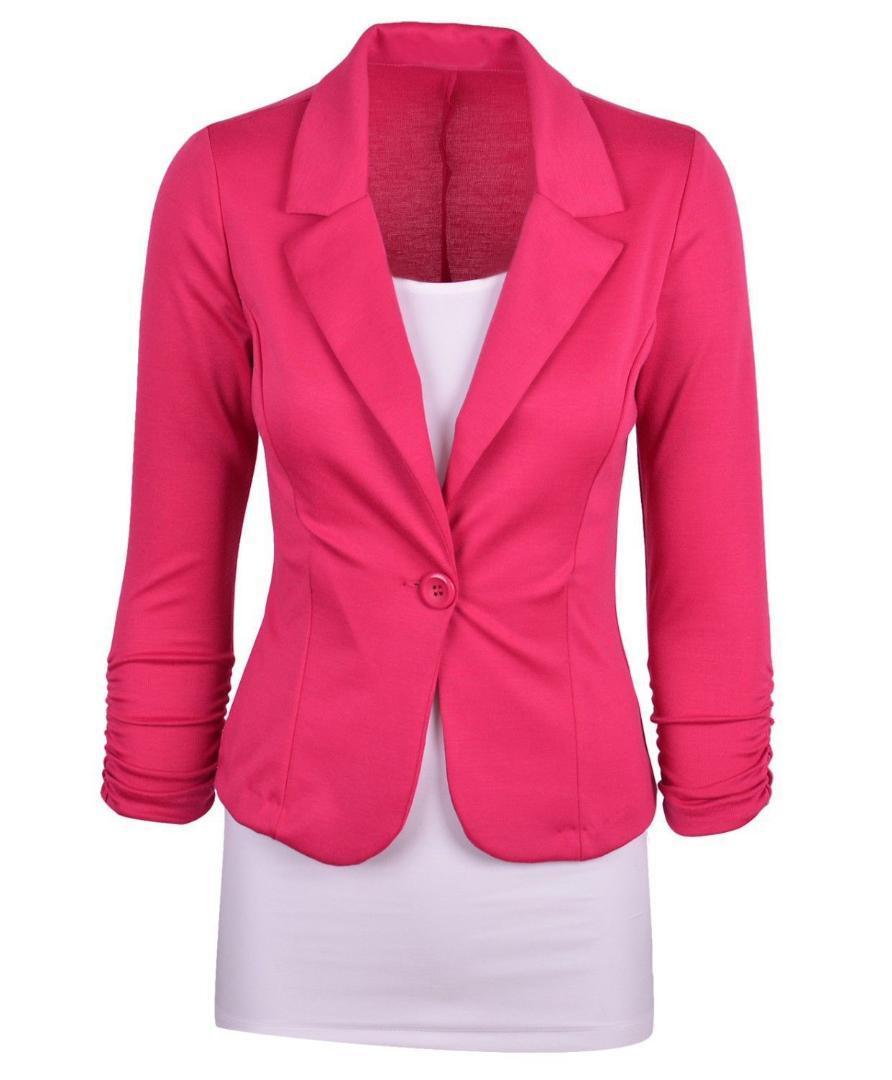 Женские куртки с длинными рукавами Workwear Workwear Top One One Button Coats Сплошные карманы Бизнес офис Настройки моды Весна Осень