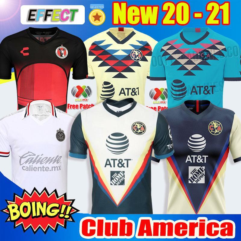 Nuovo arrivato 2019 20 Maglie di calcio Club America Soccer Jerseys Kit 2020 Messico Club de Cuervos Home Away Terzo kit di Guadalajara Chivas 19 20 Maglie di calcio