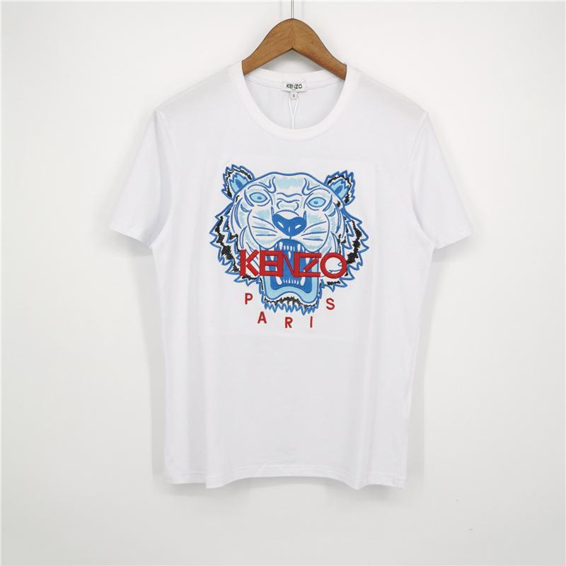 Moda Marka Erkek Tasarımcısı Tişörtler Kız Tişört Kısa Kollu Gömlek Tiger Mektupları Kadın Yaz Tees Üst Kalite Beyaz A1ERT5 2031709V