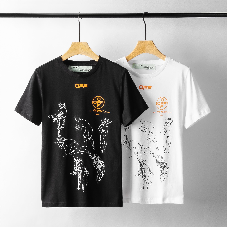 2020 nueva camiseta de manga corta de la manera imprimió la camisa de los hombres de los hombres de moda mangas B1 artística jóvenes camiseta de la calidad buena marca grande corta