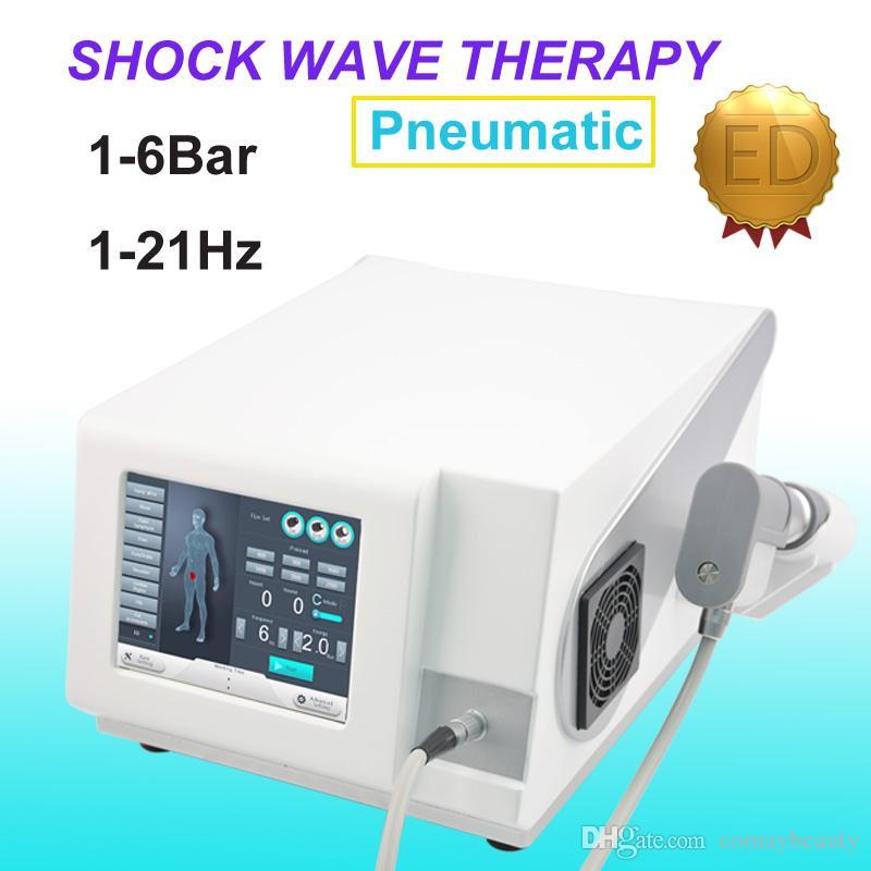 Mejor onda de choque neumático máquina aparatos de terapia de ondas de choque TOCH fisioterapia rodilla eliminación celulitis de alivio de dolor de espalda / tratamiento ED