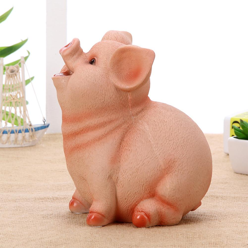 Tirelire résine Home Decor Coin Holder Pig Forme Stockage Jouet Exempté Tirelire enfants Cadeaux mignons de bureau Saving Pot