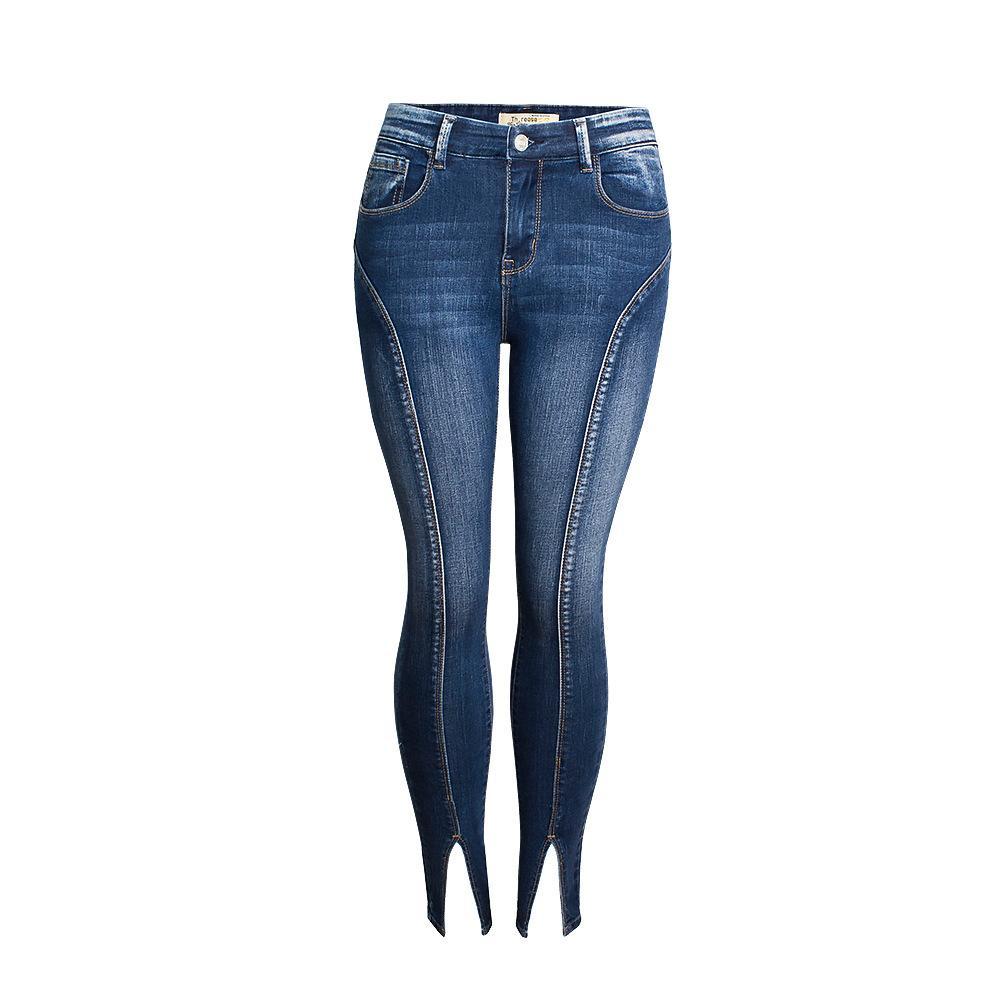 Sexy Stretching High Waist Pencil Women Jeans Fashion Bottom Blue Skinny Denim Autumn Jeans Women Pants Trousers 2019