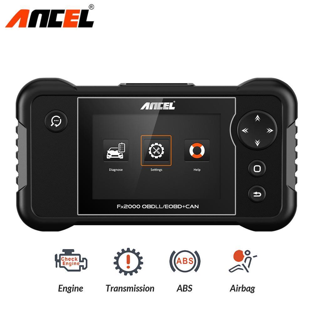 Ancel FX2000 OBD2 Automotive Scanner ABS SRS Airbag Transmission Engine Diagnostic Tool OBD 2 Car Professional Auto Scanner Tool