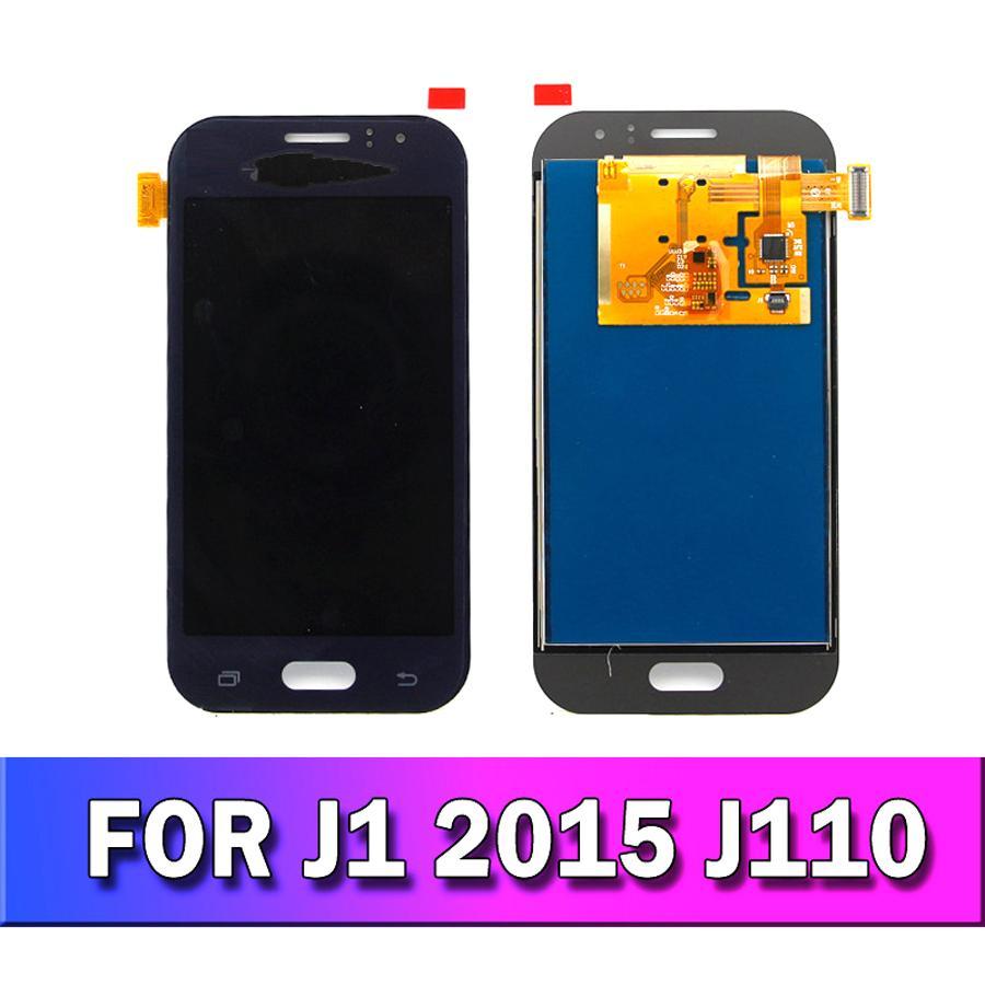Parlaklık Ayarlama J110 LCD ile TFT LCD için Samsung Galaxy J1 Ace J110 SM-J110F J110H Ekran LCD Dokunmatik Sayısallaştırıcı