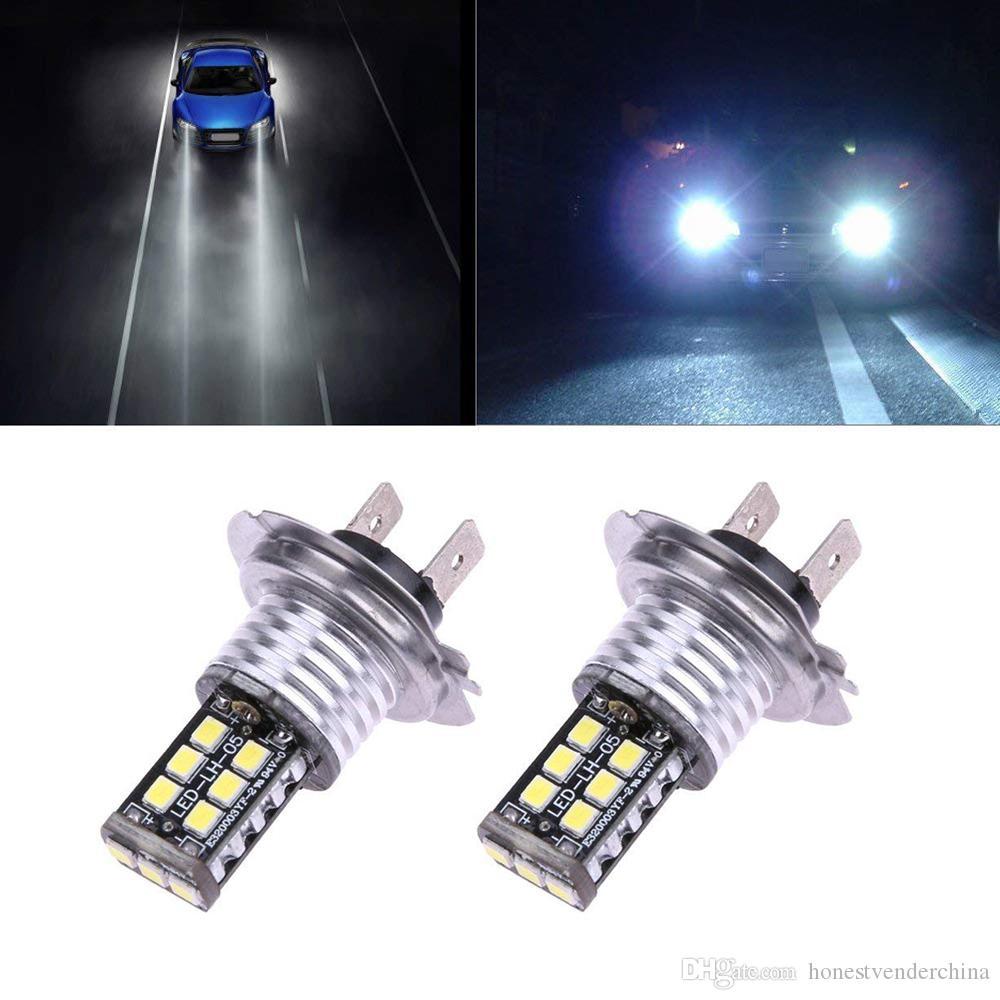 2 adet 10 W 15SMD H7 LED COB Araba Beyaz Kafa Işık Ampüller Yüksek Işın Ön Sis Lambası