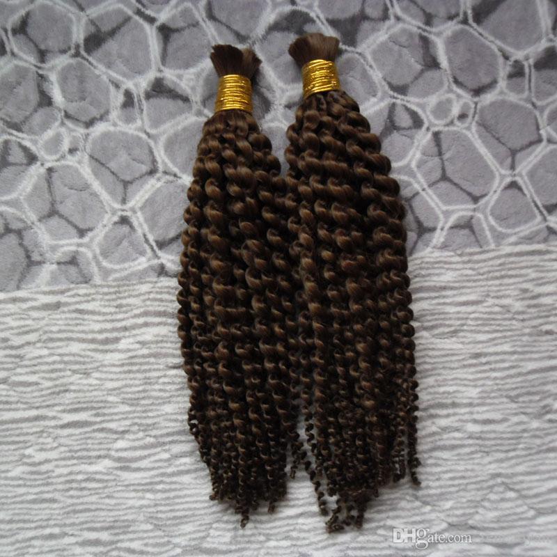 Sem Trama do cabelo humano trança massa 2 Pcs Para Humano trança Não Acessórios do cabelo trança massa Bundle 200G mongolian solta volume do cabelo encaracolado