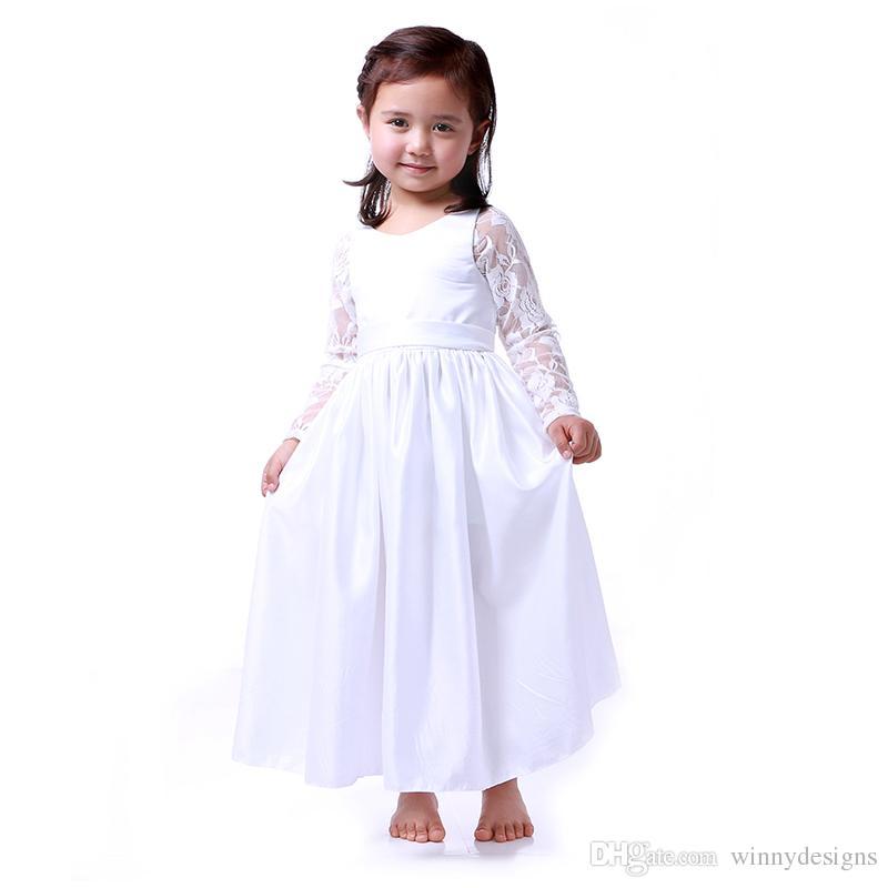 Wedding Dress Wholesale Kids Party Wear Children Frocks Designs Baby Girls Stain Princess Dress Free Shipping