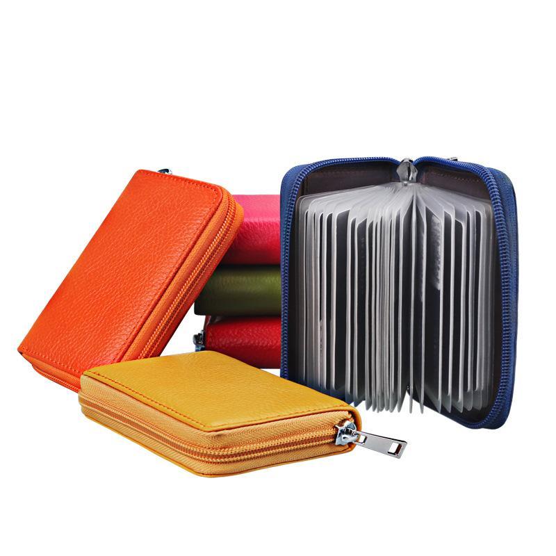 Cuir véritable Porte-cartes Femmes Hommes Voyage Passeport Cowhide ID Banque de carte de crédit de cas Organisateur Protecteur