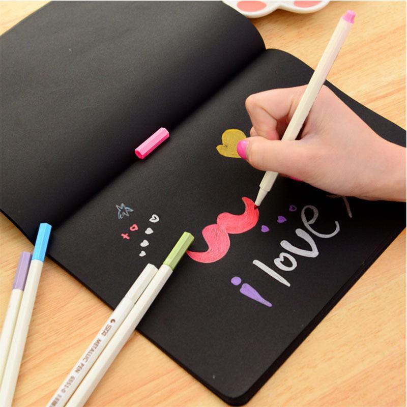 Brossura Sketchbook Diario calda nuova per il disegno pittura Graffiti Soft Cover nera Paper Sketch Book quaderno di scuola ufficio regalo
