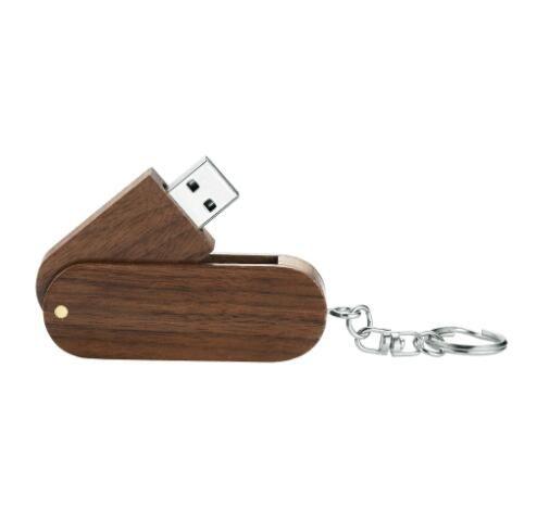 Ahşap Kutu marka Rotasyon Masif Yüksek Hızlı USB 2.0 Flash Sürücü Memory Stick 8GB 16GB 32GB Pendrive Başparmak Disk