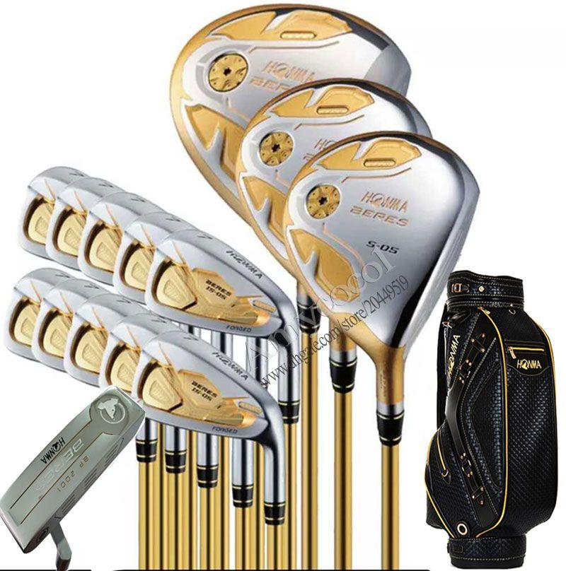 Nuovo Highquality Mazze da golf HONMA S-05 di golf set completo di golf ferri da stiro in legno Putter club e la borsa R o S Pozzo della grafite di trasporto