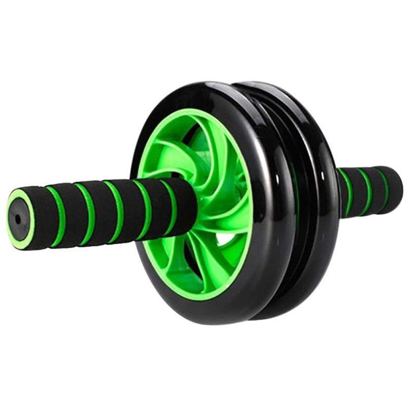 Due rotonda silenzioso Roller Muscolo addominale della pancia della rotella fitness Ruote E addestramento addominale attrezzature da palestra per uomini e donne