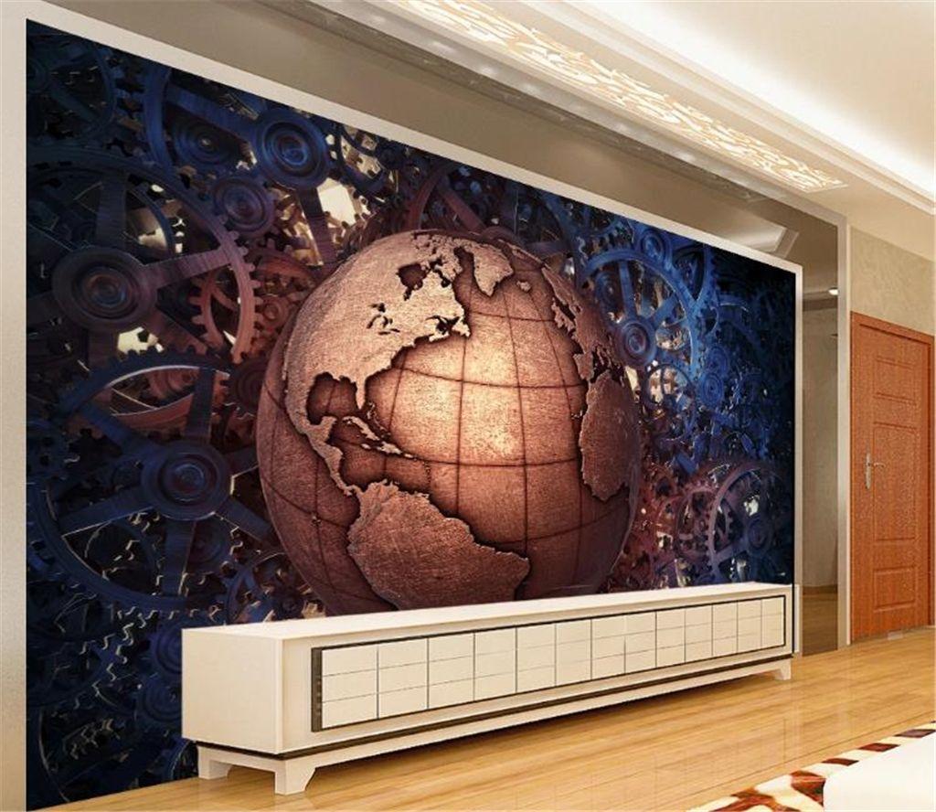 Wallpaper barra all'ingrosso KTV decorazione 3D Wallpaper creativo Metal Gear Bar KTV Tooling sfondo decorativo naturale