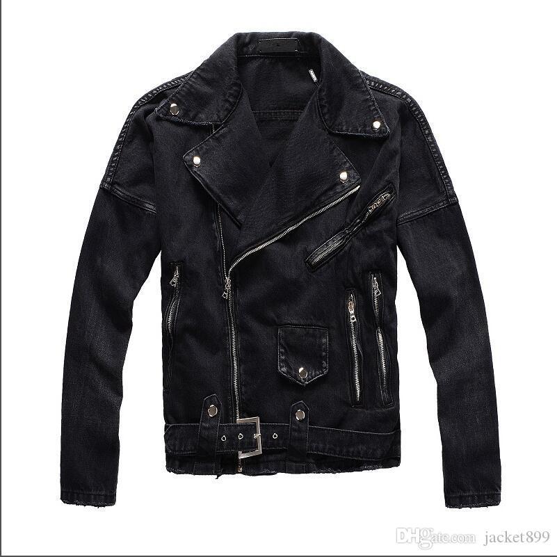 wholesale New AMI brand men's designer denim jacket motorcycle motorcycle men's outdoor denim jacket street fashion denim jacket Size M-4XL