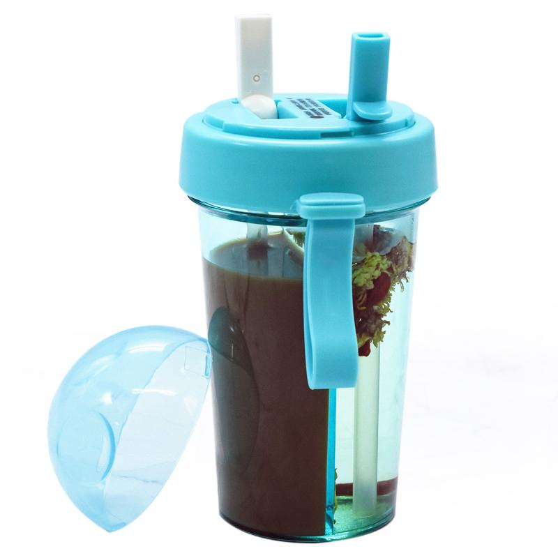 Creativo a doppia Drink duplice uso bottiglia di acqua Personalità Studentessa Leak Proof Per esterni Alcol portatile Cup