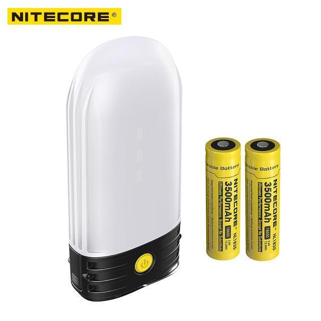 LED NITECORE LR50 recargable Linterna camping Banco de alimentación 9x alto CRI 250 lúmenes Usos 2x18650 o baterías 4xCR123A