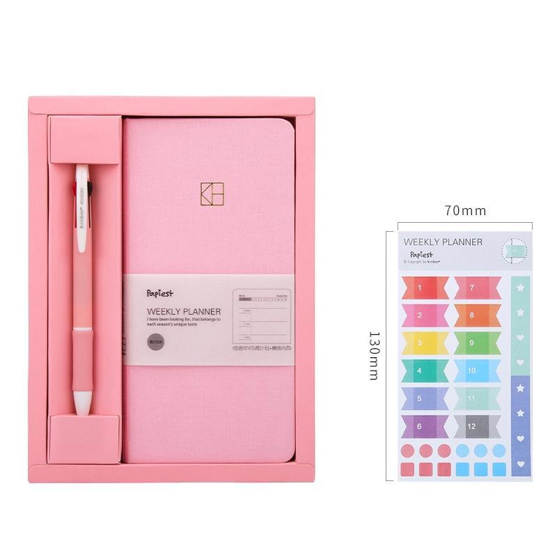 Cep dizüstü Saf renk haftalık planlayıcısı set 88 sheets 19.1 * 9.8 cm DIY kitap haftalık hediye