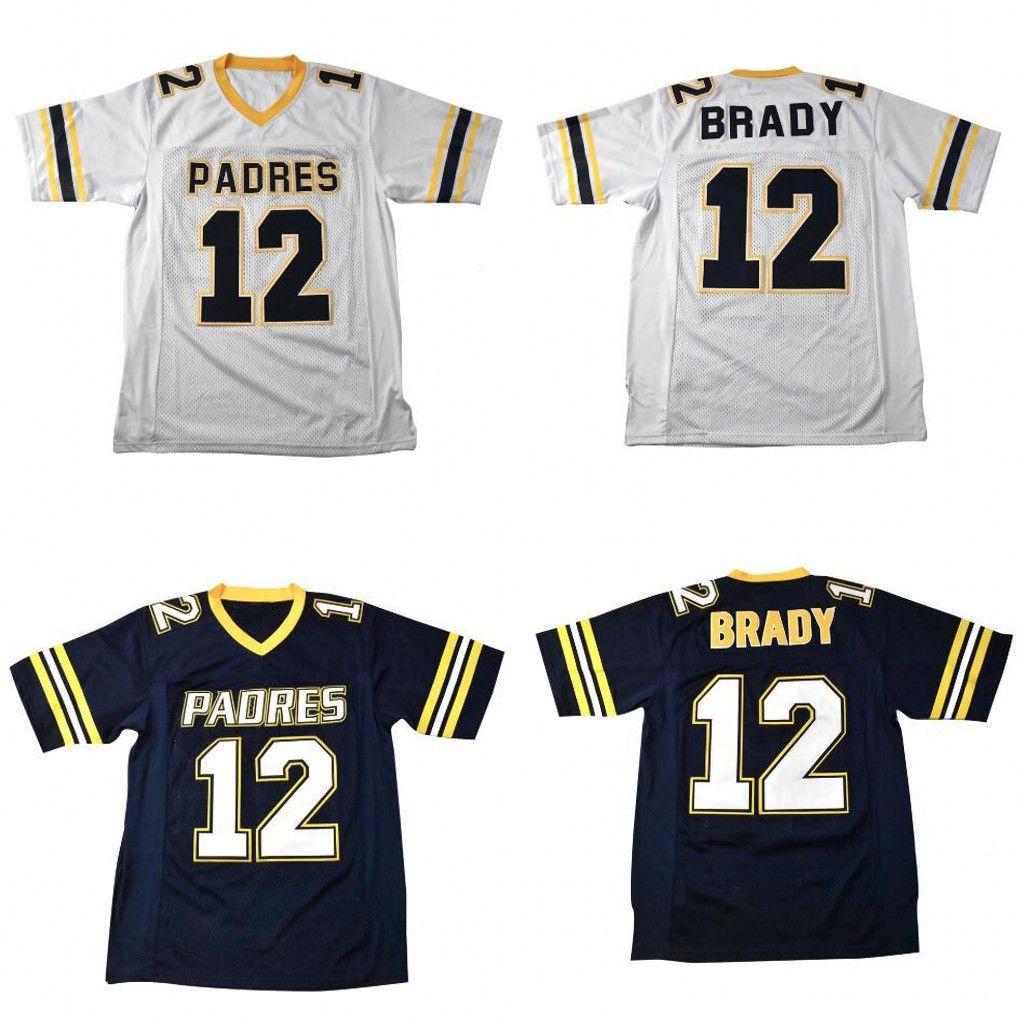 2021 #12 Tom Brady Jersey Junipero Serra 100% Stitched Custom ...