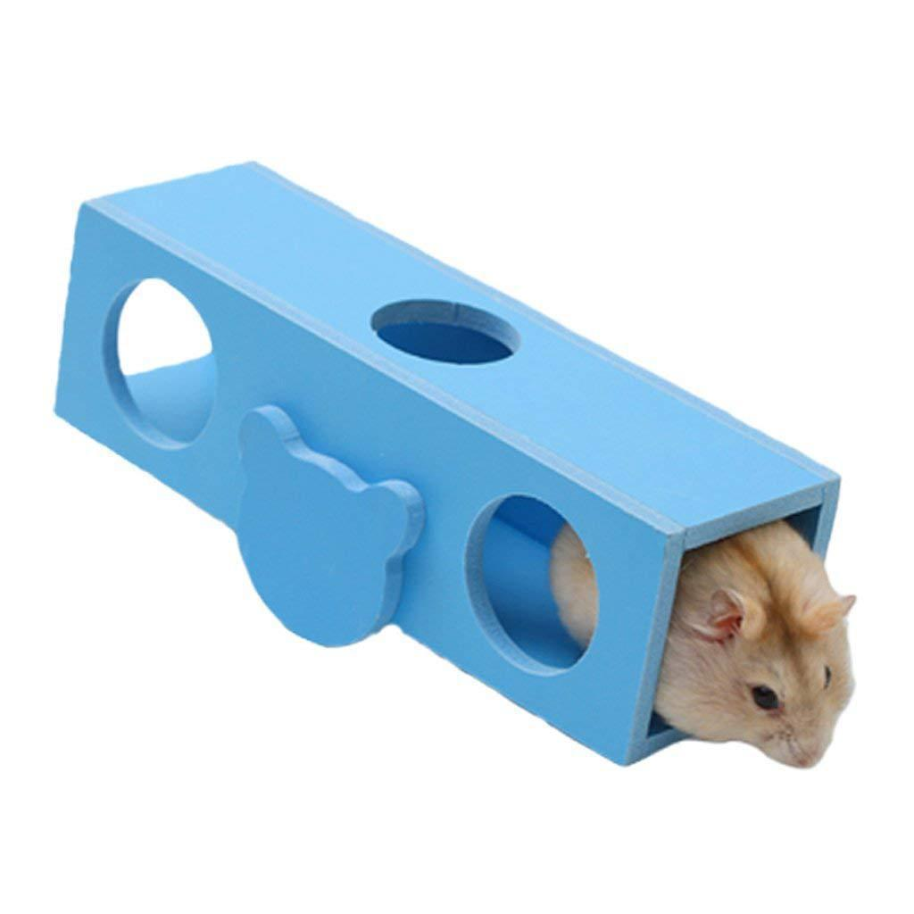 Ecology Wood Flat Car Seesaw Hamster Holland Pig Cage Villa Motion Toys Non-slip Garden Cart Tall Barrel