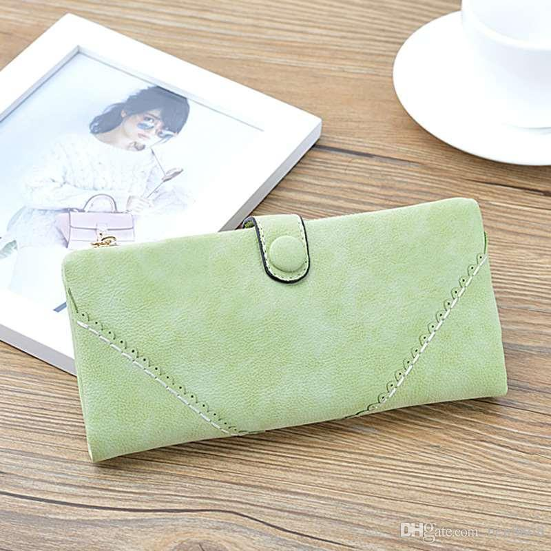 Hot Selling! Sugar Color Women Long Wallet Female Multifunction Hasp Purse Portable Clutch Bag Business Cards Holder