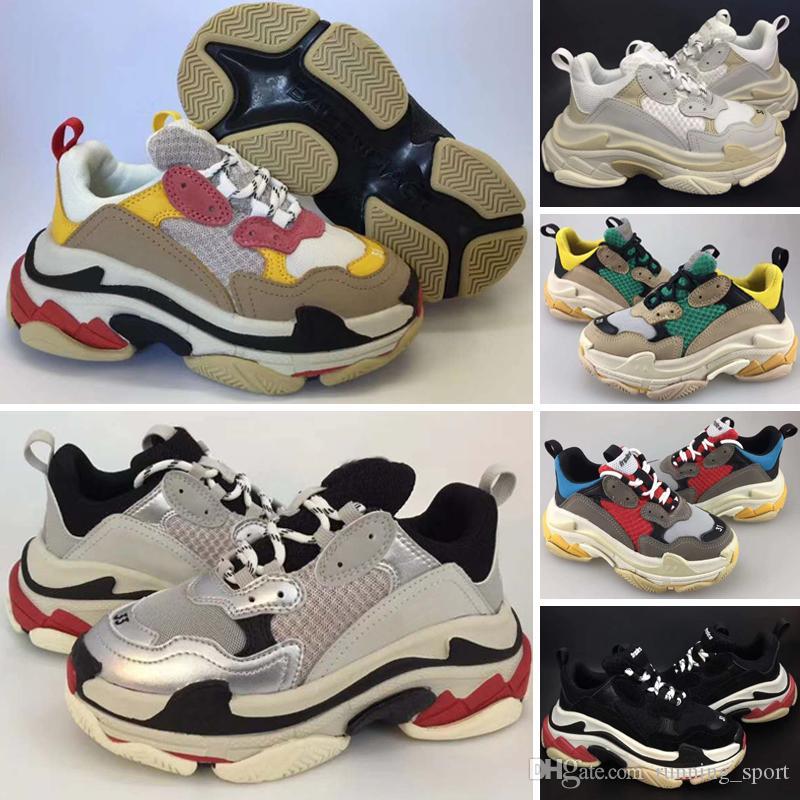 Balenciaga Triple-S Sneaker Горячие Продажи Роскошные Дизайнерская Детская Обувь Paris Triple S 2.0 Детские Кроссовки Повседневная Обувь для Лучшего качества Мужские Женские