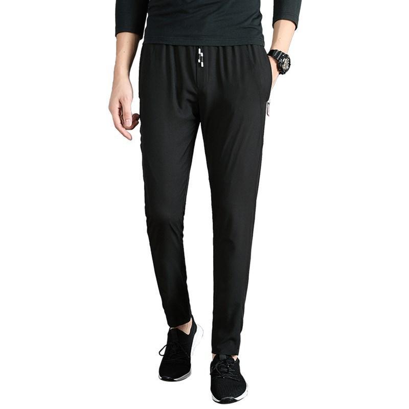 2020 новые брюки Мужская мода Тонкий Спортивные брюки весна тонкий Узкие брюки Повседневная Мужчины Мужская Joggers Cargo