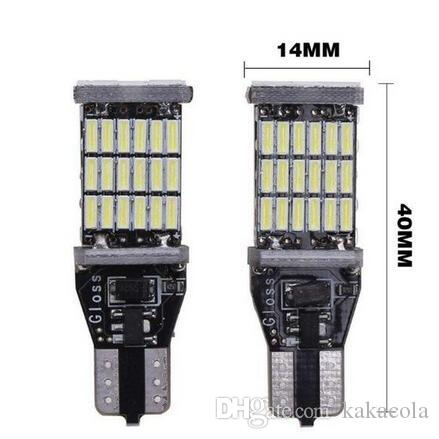 DHL Shipping Super Bright T15 W16W 921 45 SMD LED 4014 Car Auto Canbus Marker Lamps Reading Light Interior Lighting Bulb