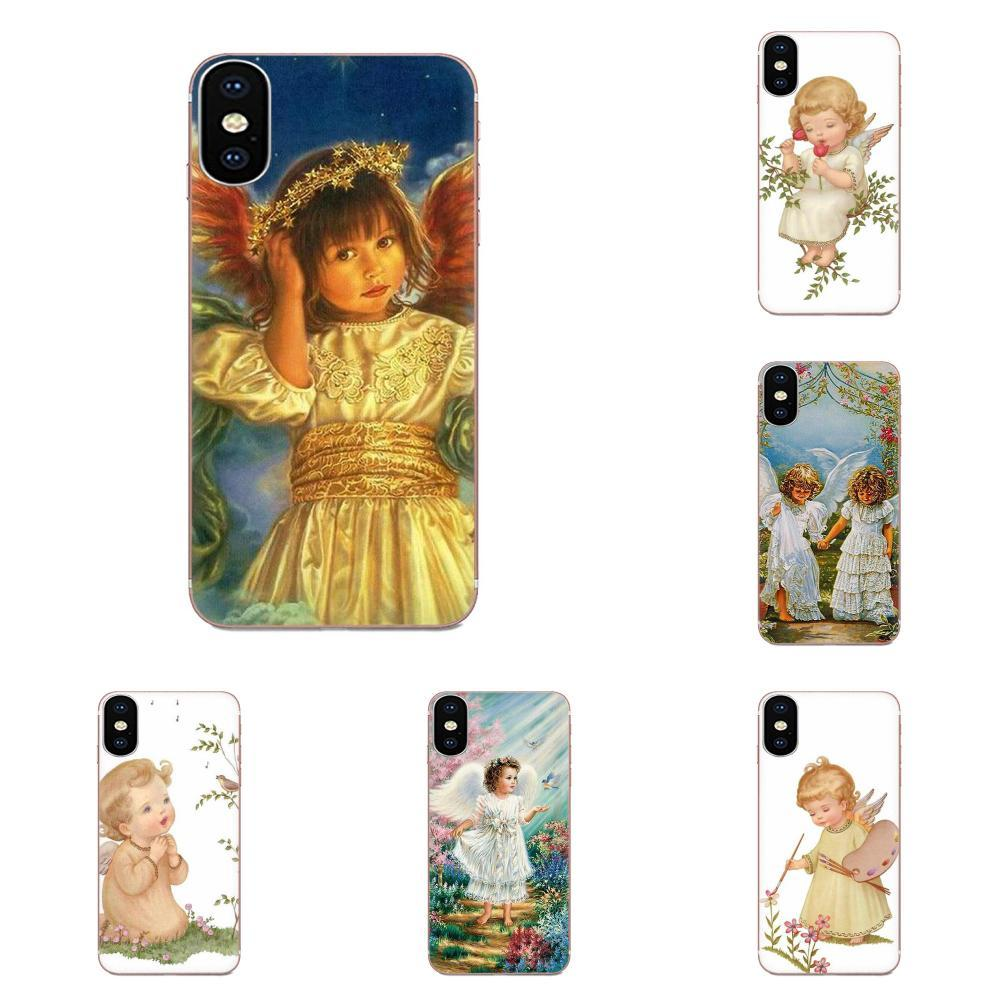 Phone case Vintage Style Cute Little Angel For Xiaomi Mi3 Mi4 Mi4C Mi4i Mi5 Mi 5S 5X 6 6X 8 SE Pro Lite A1 Max Mix 2 Note 3 4 Fundas