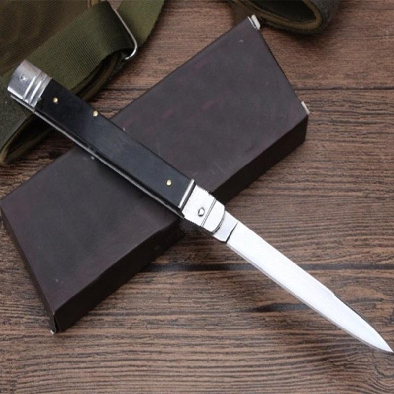Mict mafia de 11 pulgadas mango del palo de rosa clásico de acción única cuchillo del regalo autotf cuchillo plegable cuchillo que acampa para el hombre 1pcs Admi