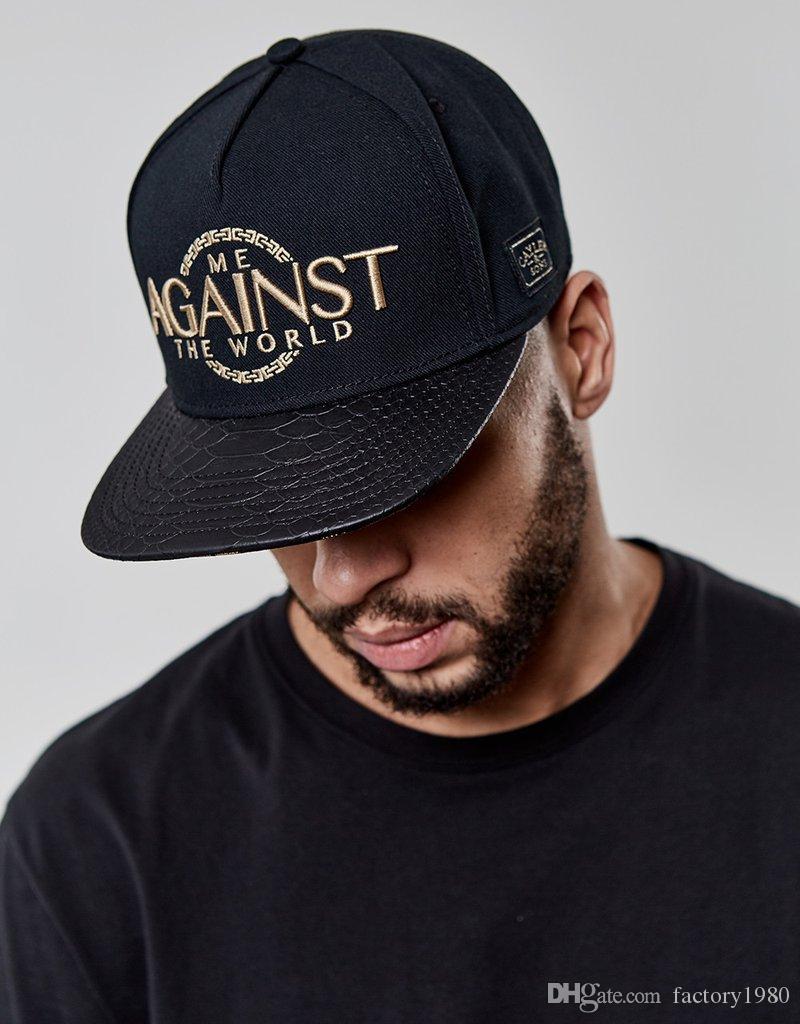 cappello classico di alta qualità di trasporto libero di alta qualità di marca hip-hop economico uomo donna snapbacks nero CS WL CONTRO IL CAP DEL MONDO