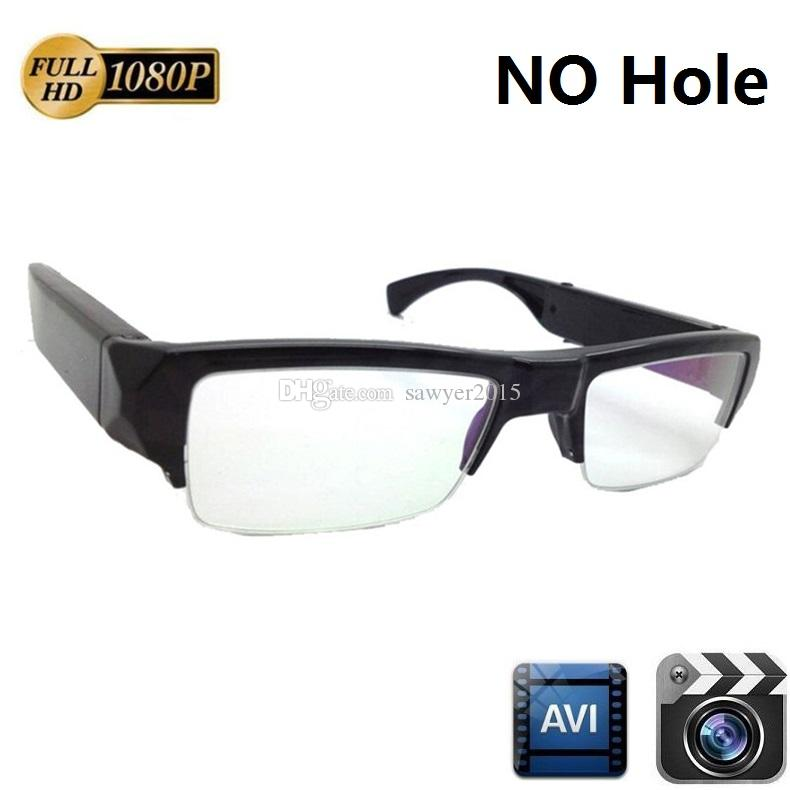 Full HD 1080P Glasses mini camera 5MP NO Hole glasses Audio Video Recorder Camcorder Eyewear Sunglass Camera Mini DV DVR