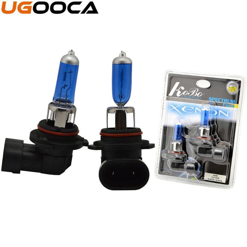 2 x 9006 reemplazo del halógeno del xenón del coche bulbo de la linterna del kit 5000K 12V 55W lámpara auto