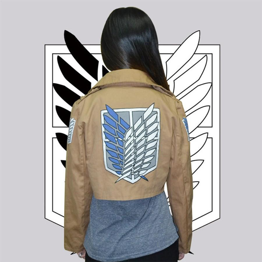 Halloween Costume Attack on Titan Jacket Shingeki no Kyojin Legion Coat Cosplay Eren Levi Jacket Plus Size Cosplay fantasias
