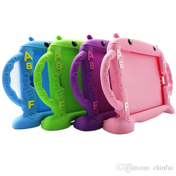 """For 7.9""""-10.5"""" iPad,Shockproof Silicone ABC Bumper case Waterproof Kid Tablet Case cover"""