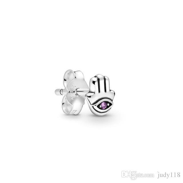 2019 ME Collection My Hamsa Hand Single Stud Earring 925 Sterling Silver Jewelry Newest Fashion Earrings for Women Fine jewelry 298548C01